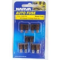 Narva 7.5 Amp ATS Blade Fuse (5 pack)