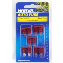 Narva 10 Amp ATS Blade Fuse (5 pack)