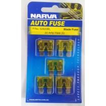 Narva 20 Amp ATS Blade Fuse (5 pack)