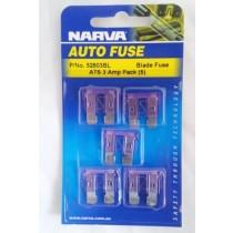 Narva 3 Amp ATS Blade Fuse (5 pack)
