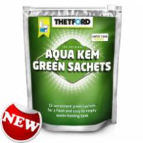 Thetford Aqua Kem Green Zip Bag 12 Sachets