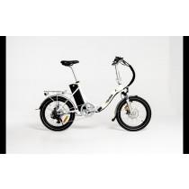 ETOURER F2 Folding E-Bike Step-Through Model - Polar White.