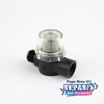 "Shurflo Twist-On Water Strainer - 1/2"" Pipe Inlet"