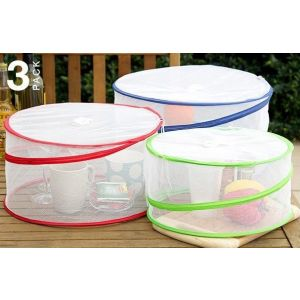 Set of Three Pop Up Food Covers