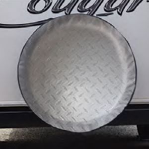 ADCO Spare Tyre Cover Diamond Plate - Suits Off Road- 29 3/4 inch (755mm)