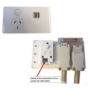 CMS Single Power Outlet + Dual 4A UBS Ports