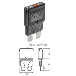 Narva Manual Blade Circuit Breaker - 6 Amp