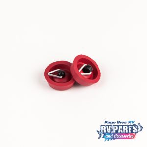 Red Rubber Sink Plugs x2