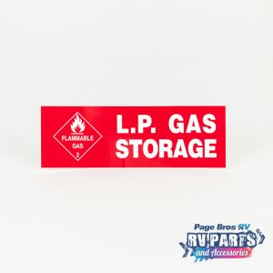 LPG Gas Storage Sticker