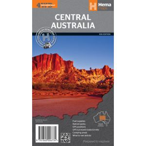 Hema Central Australia 4WD Map